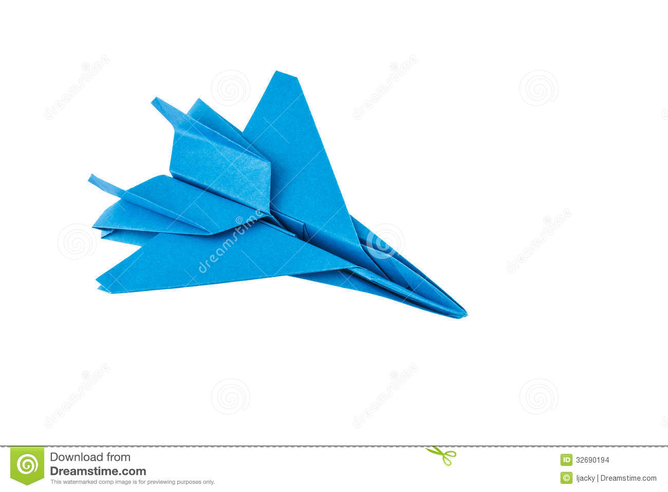 Blue And White Origami Paper