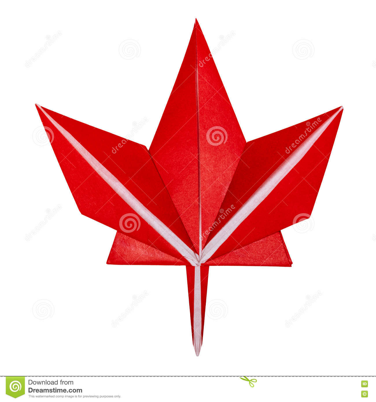 Origami Fall Red Maple Leaf Stock Image - Image of falling ... - photo#5