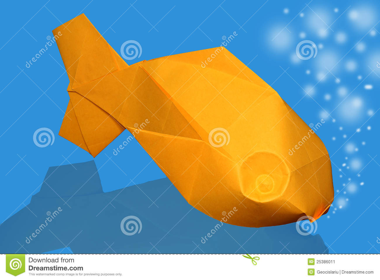 Origami fish stock image. Image of abstract, colorful ... - photo#49