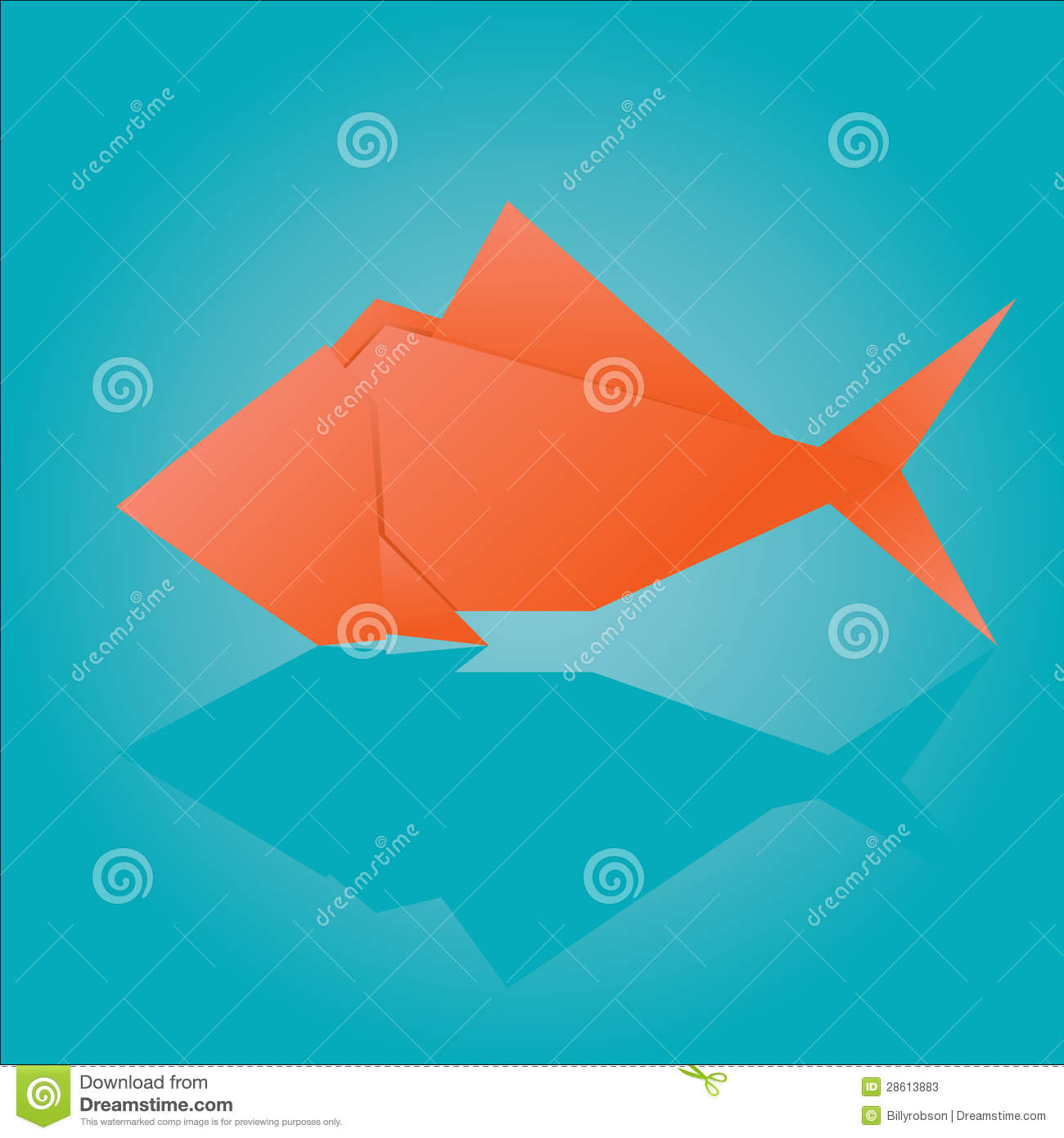 Origami fish stock vector. Illustration of japan, icon ... - photo#41