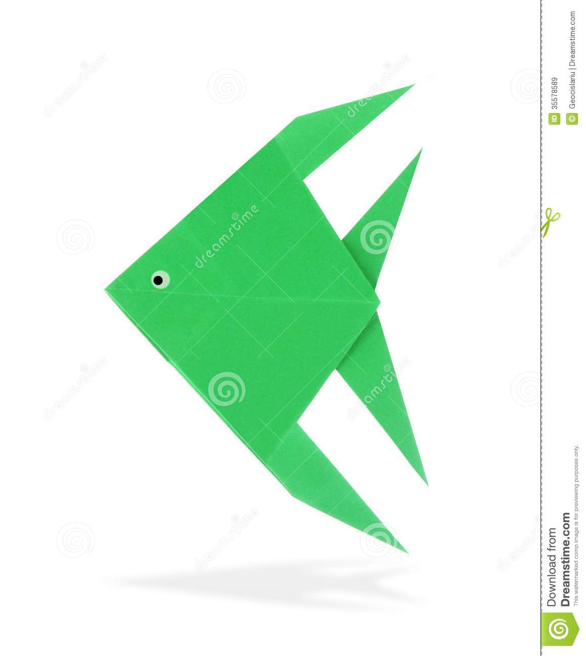 Origami fish stock image image of paper angelfish ocean 35578589 origami fish jeuxipadfo Images
