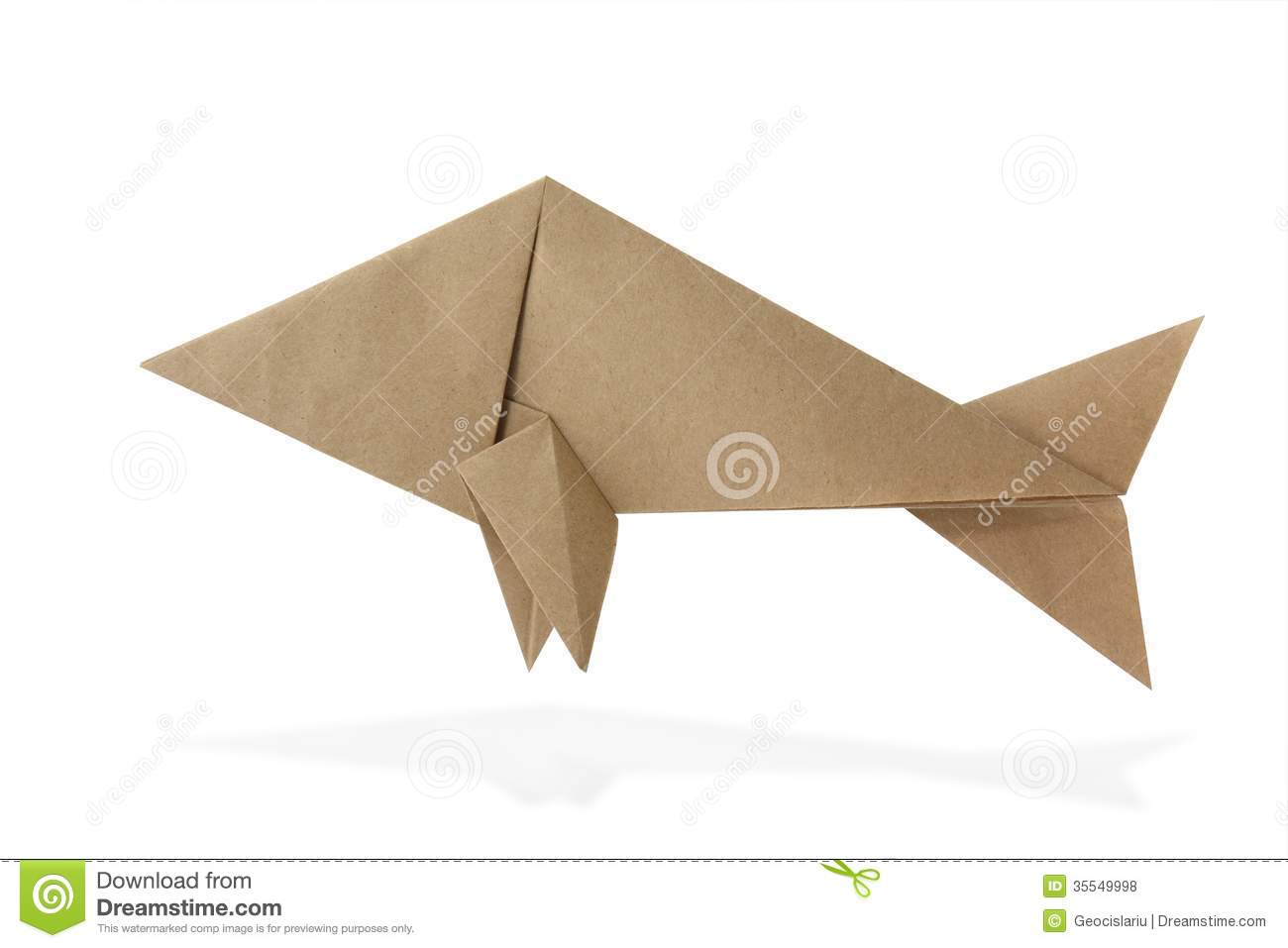 Origami fish stock photo image of white animal water 35549998 origami fish jeuxipadfo Images