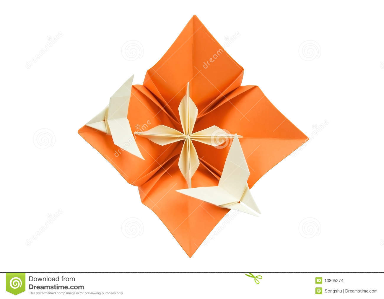 Origami Flower Stock Photo Image Of Small Japanese 13805274