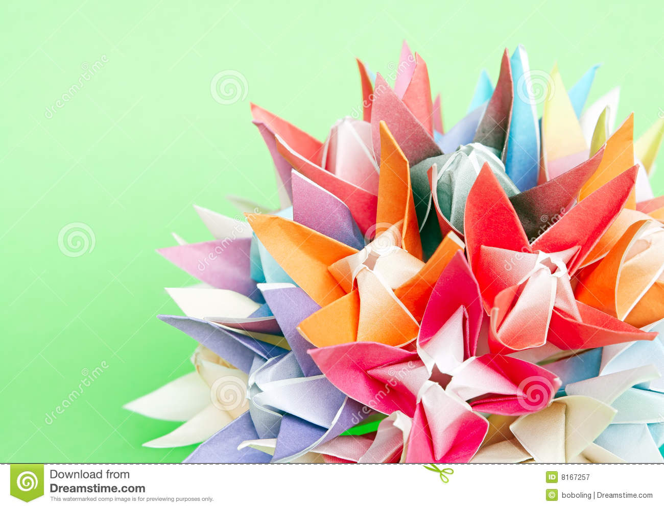 Origami Flower Ball Stock Image Image Of Floral Blossom 8167257