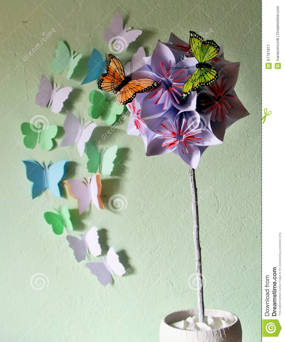 Origami flower ball stock image image of butterflies 67787811 origami flower ball mightylinksfo