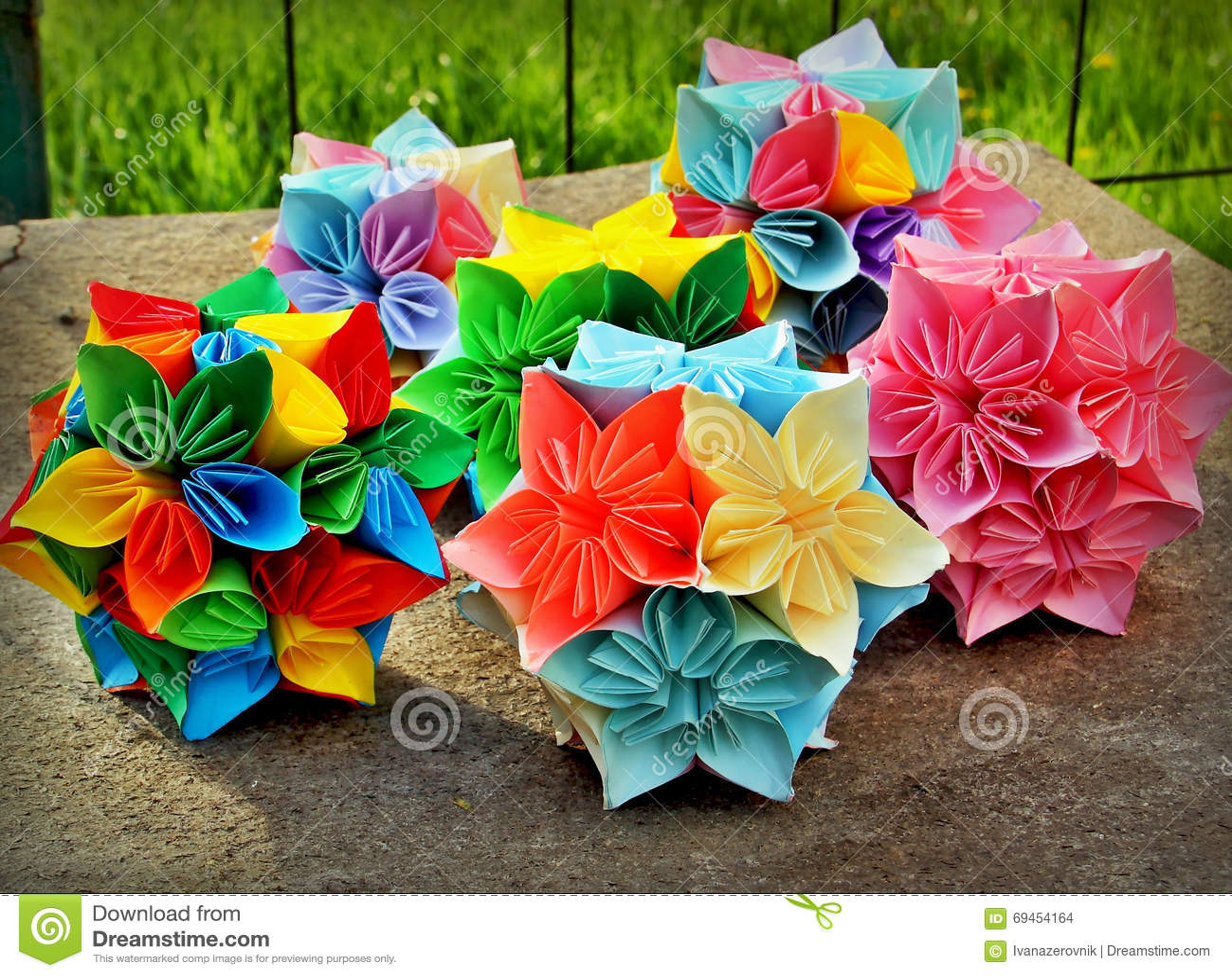 Origami flower balls stock photo image of colors decoration 69454164 download origami flower balls stock photo image of colors decoration 69454164 mightylinksfo