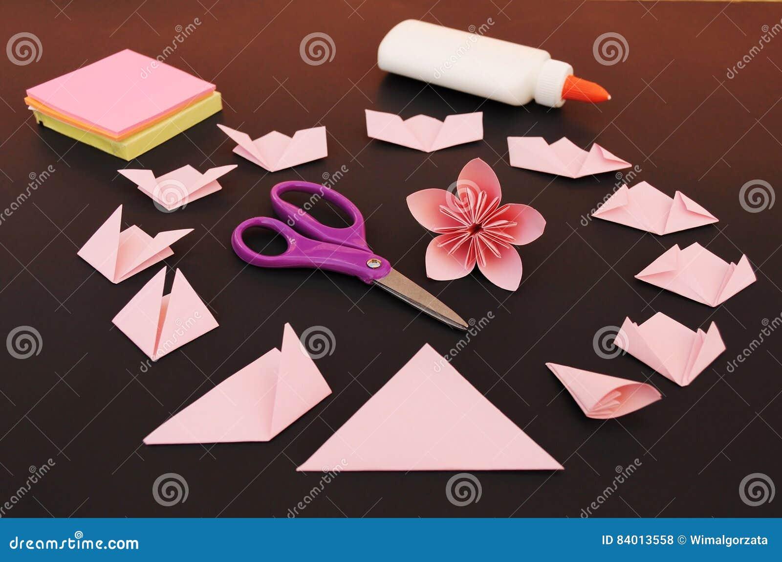 Origami flower instruction stock photo image of education origami flower instruction mightylinksfo