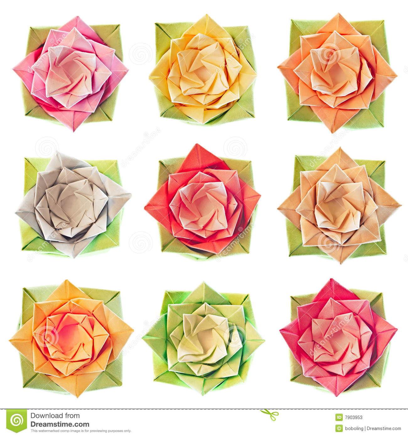Origami Flower Pattern Stock Image Image Of Floral Folding 7903953