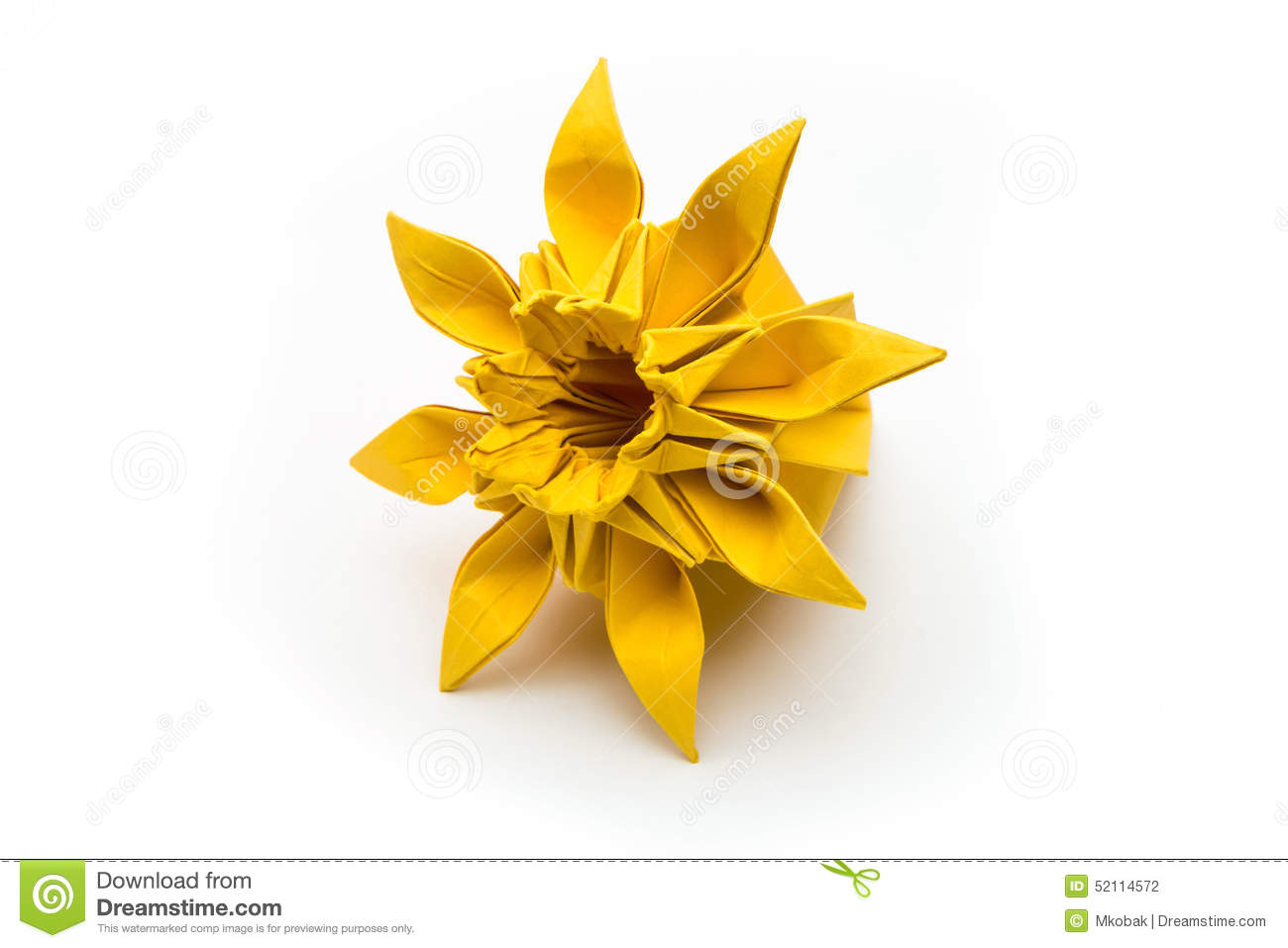 Origami Flower Stock Photo Image Of Origami Advanced 52114572
