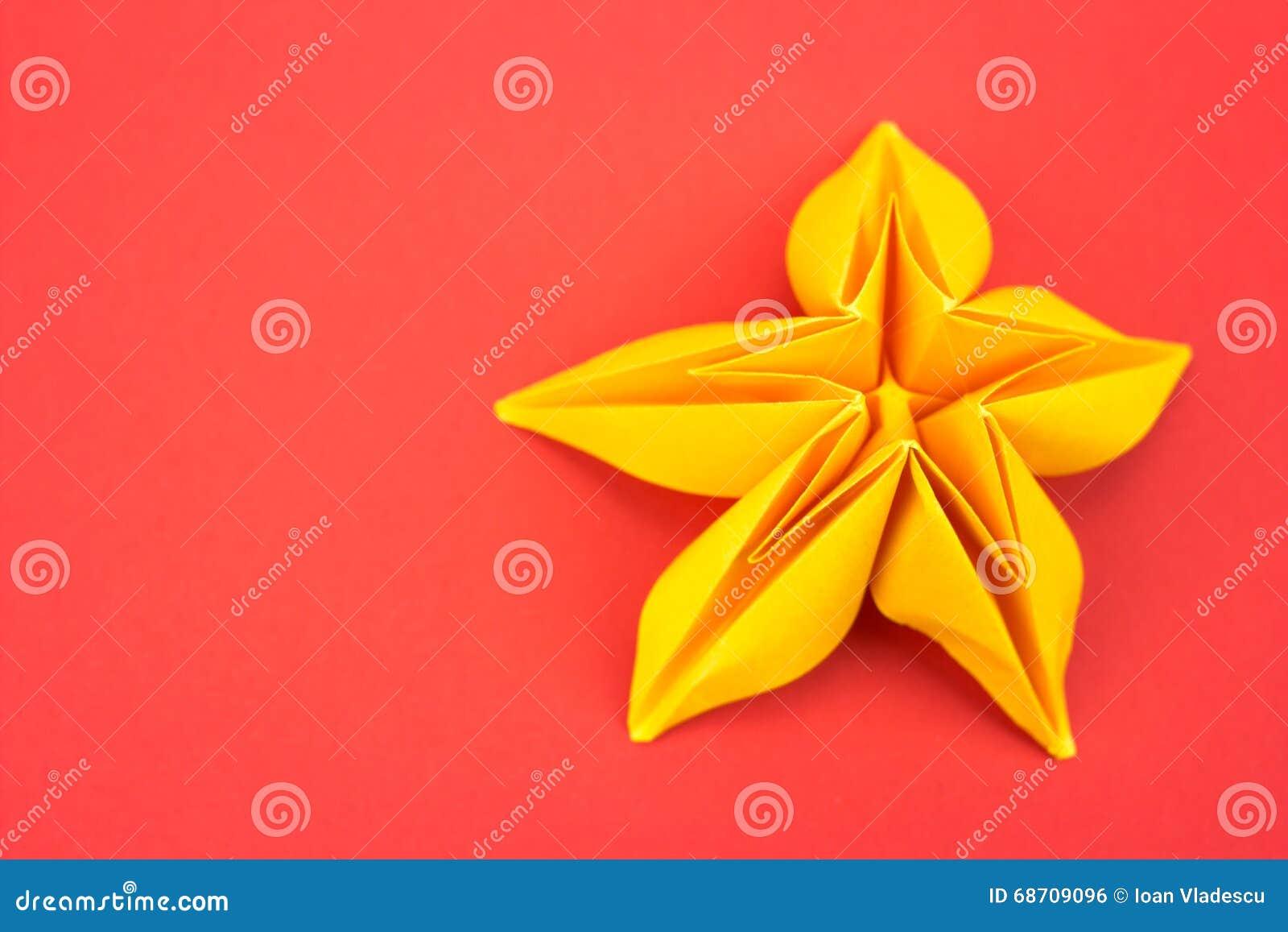 Origami Flower Stock Photo Image Of Design Present 68709096