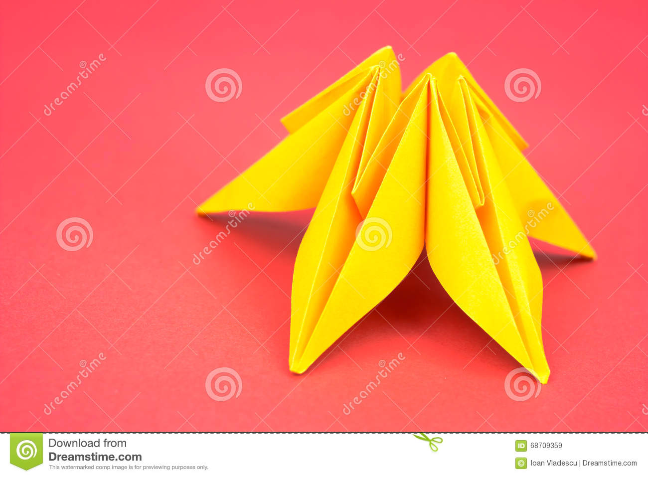 Origami Flower Stock Image Image Of Decoration Concept 68709359