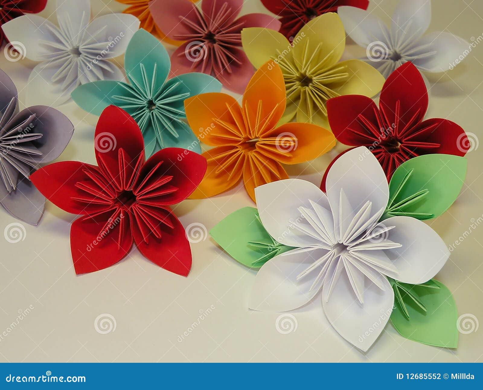 Origami Flowers Stock Photo Image Of Made Card Craftsmanship