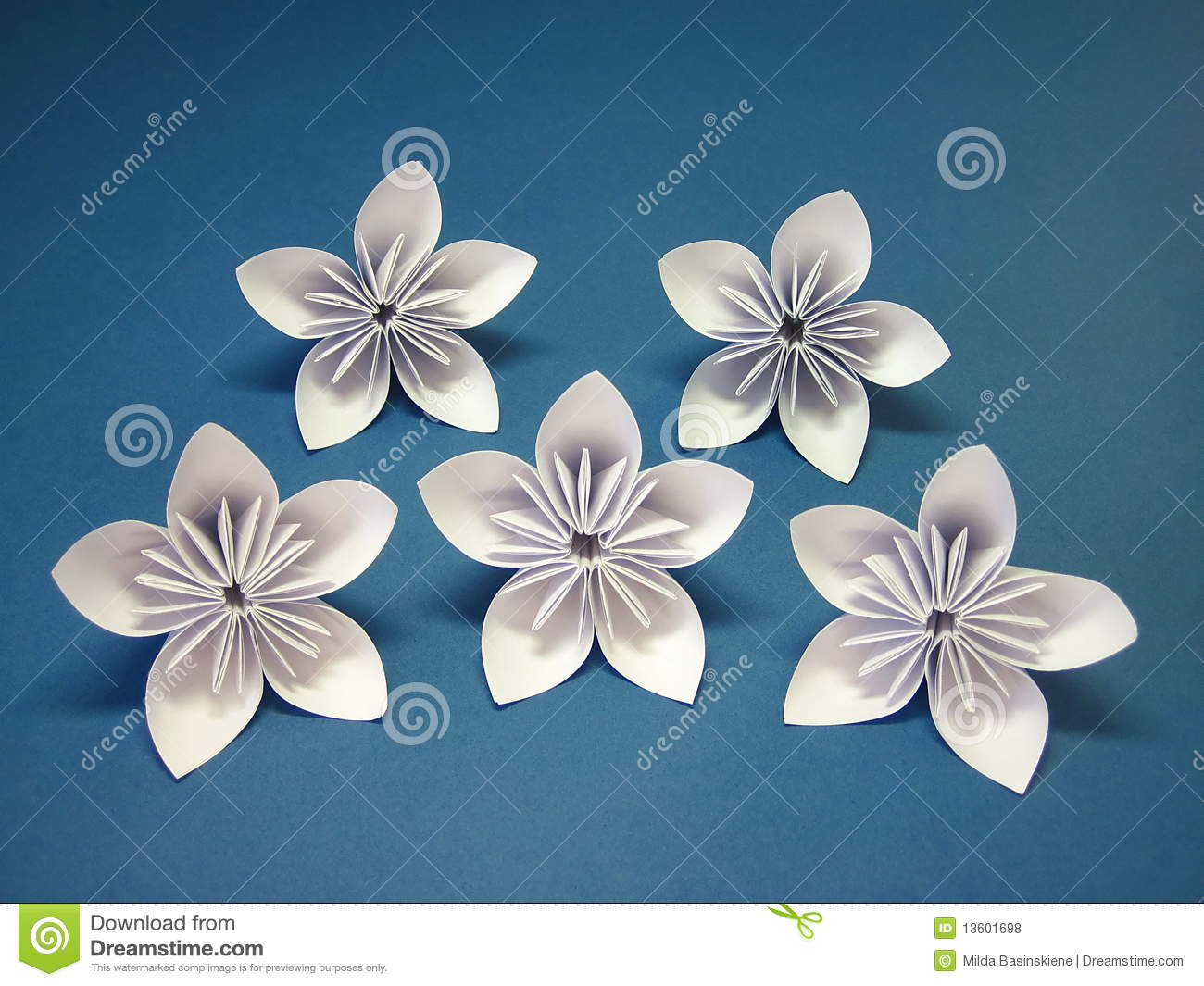 Origami Flowers Stock Photo Image Of Bloom Flower Hobby 13601698