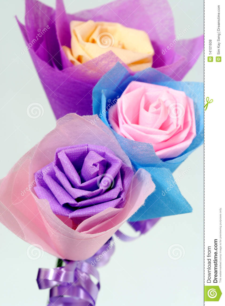 Origami of flowers stock photo image of weddings sincere 14101608 download comp mightylinksfo