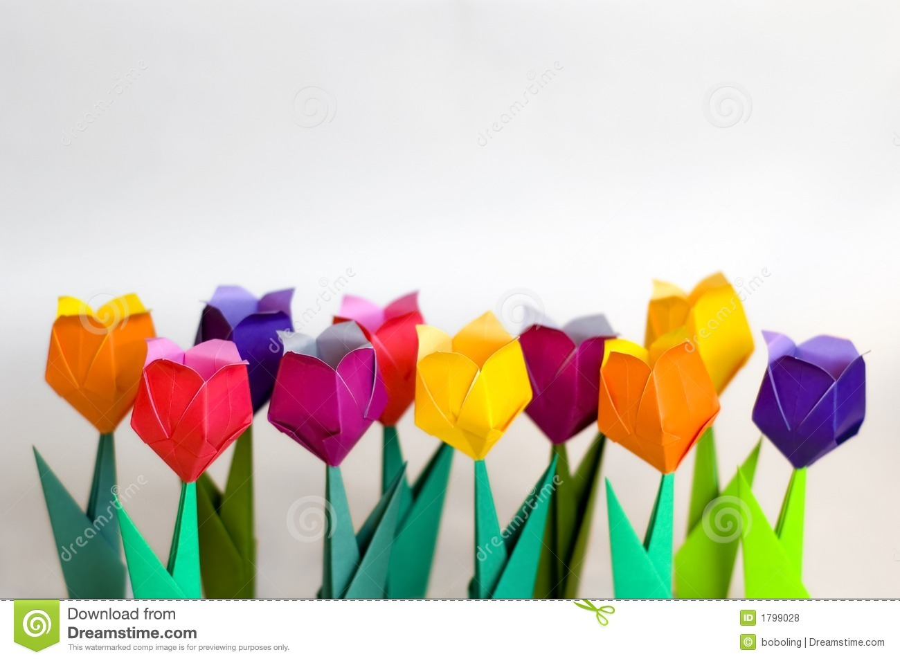 Download Origami flowers stock photo. Image of background, colour - 1799028