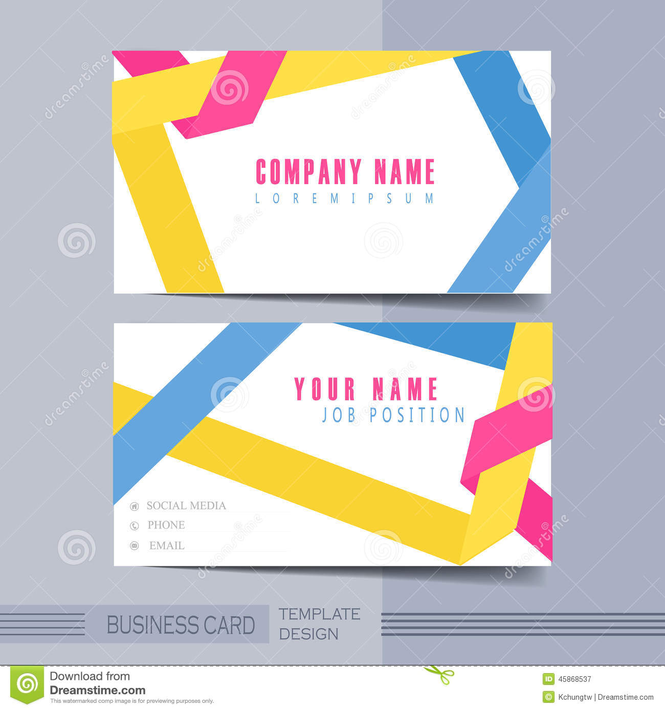 Download Origami Folded Lines Background Design For Business Card Stock Vector