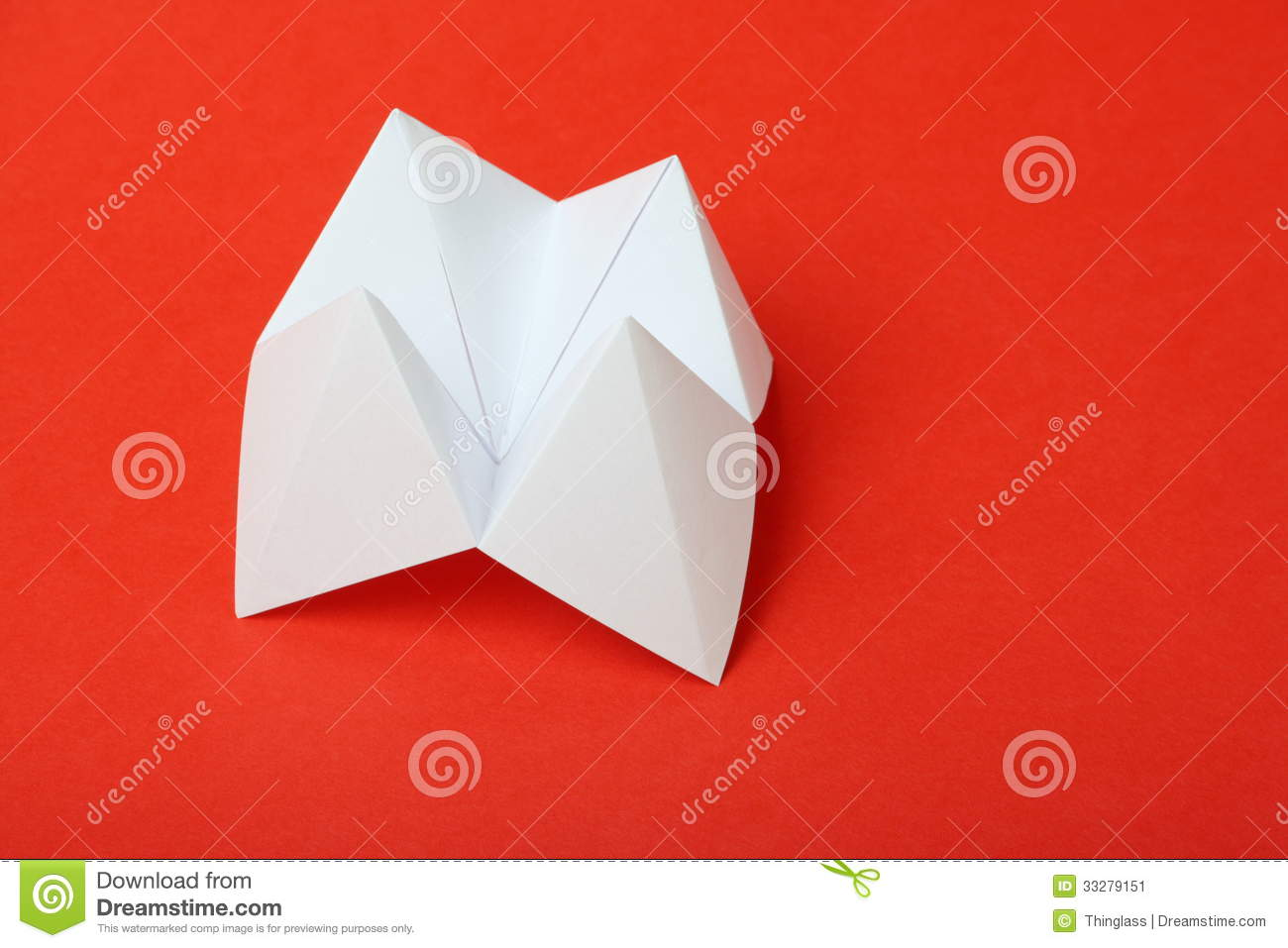 Origami Fortune Teller Stock Image Image Of Risk Blank 33279151