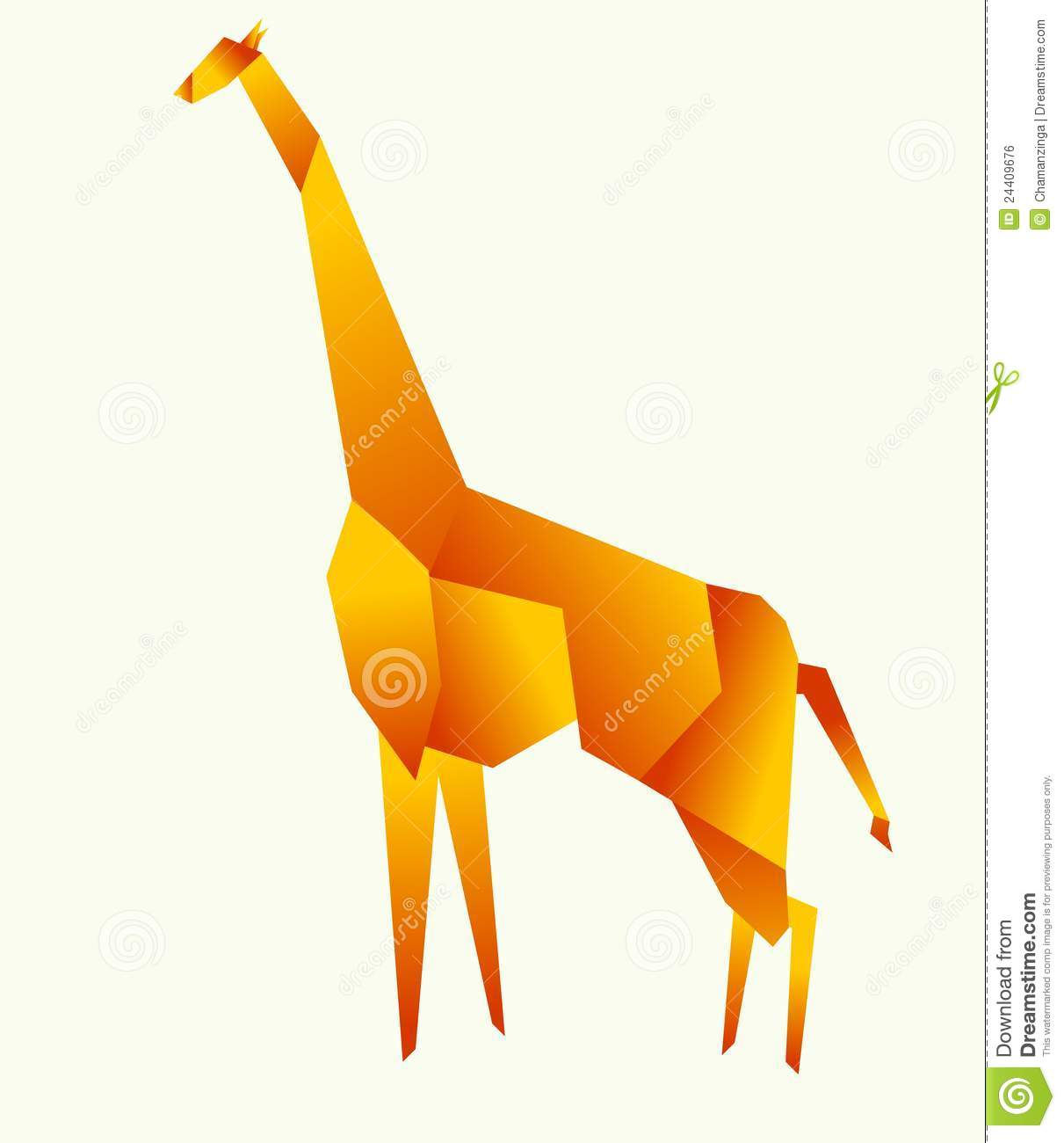 Giraffe 3d Origami Pinterest And Diagram Royalty Free Stock Image 24409676