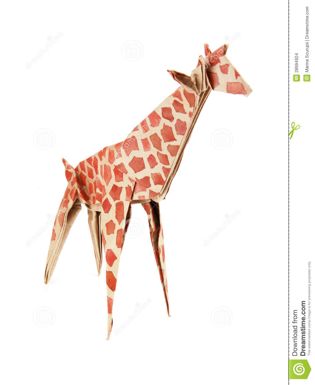 Origami giraffe stock photo. Image of objects, tall ... - photo#5