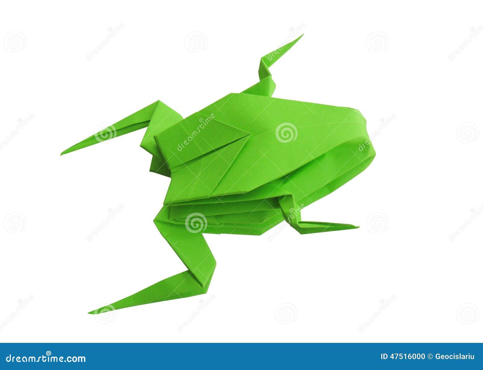 Голова лягушки из бумаги