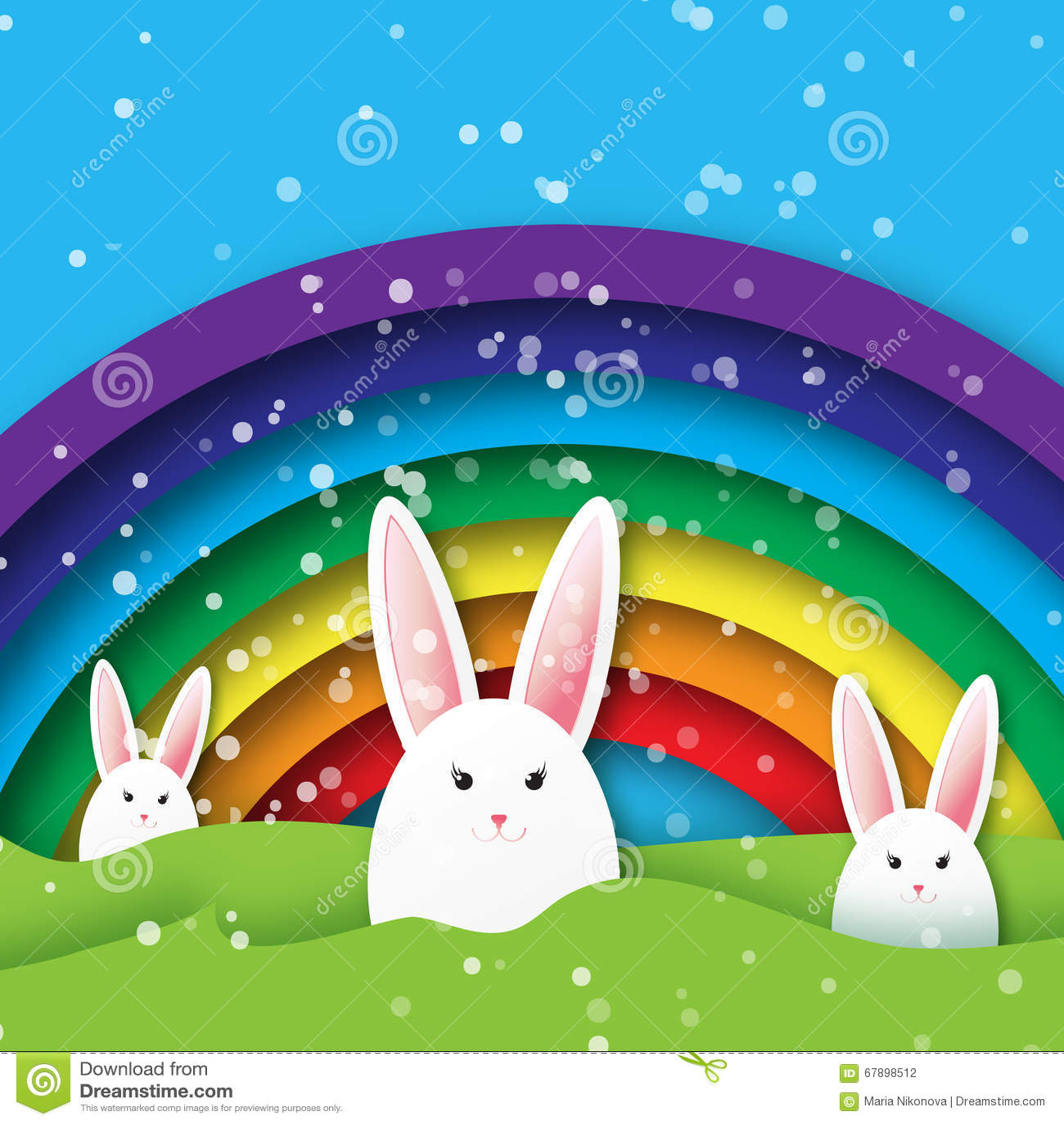 Easter Bunny Rainbow | Fcbarcelonarealmadrid - photo#39