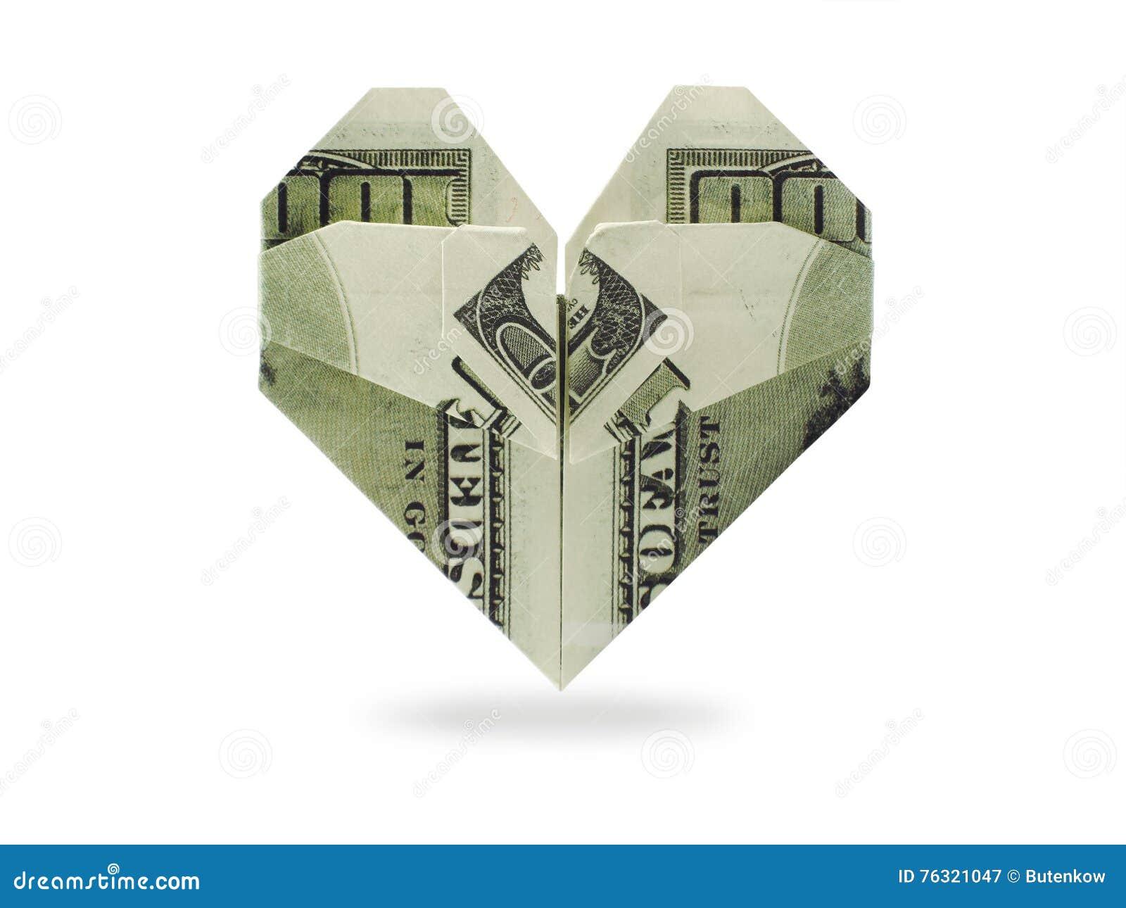 Superb Origami Heart Of Dollars Banknotes Stock Image Image Of Diagram Wiring 101 Photwellnesstrialsorg