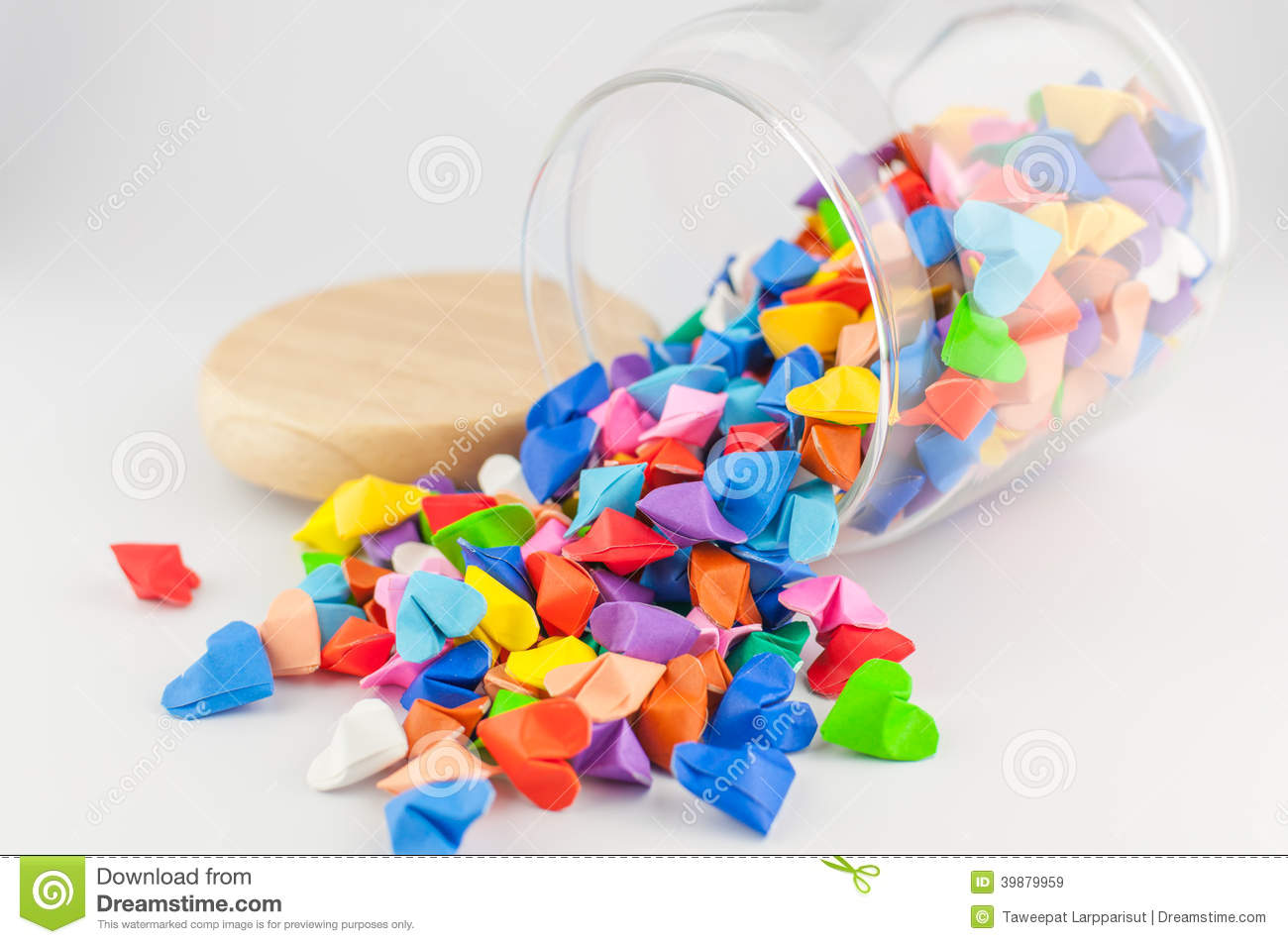 Colorful Origami Birds In The Clear Glass Jar Stock Photo - Image ... | 953x1300