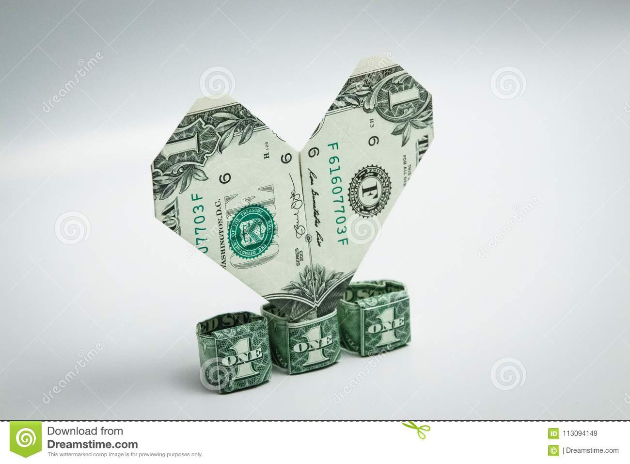 Easy Money Origami Heart Folding Instructions - How to Make Dollar ... | 957x1300
