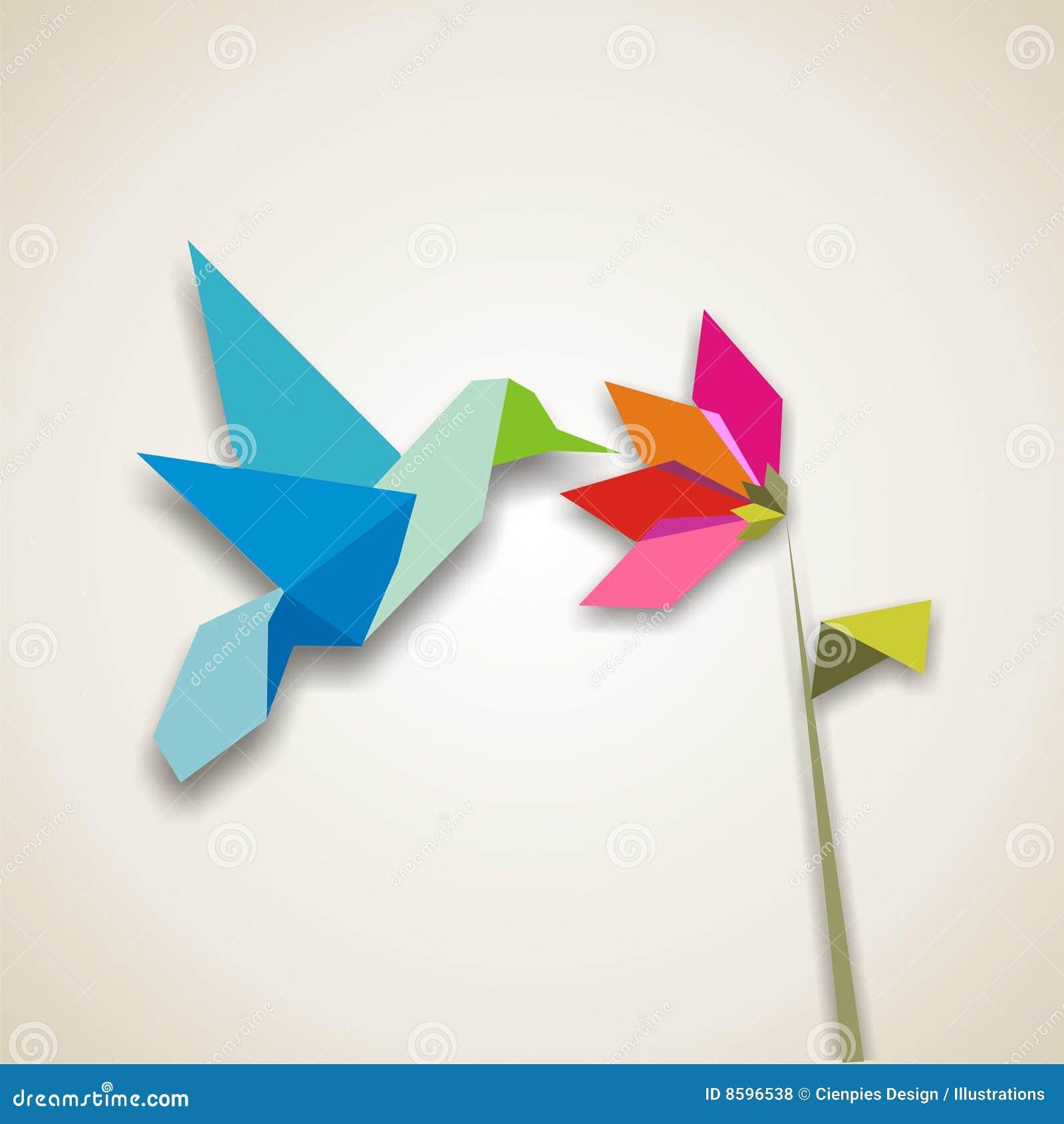 Origami hummingbird stock vector. Image of hummingbird ... - photo#30