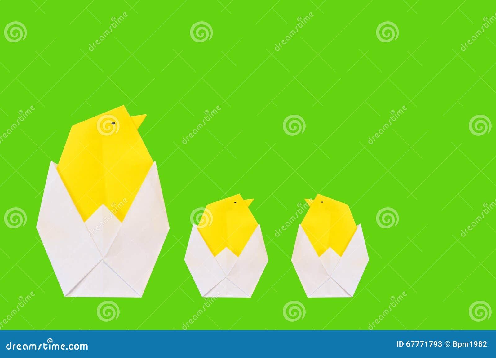 Origami Kurczak Od Papieru Obraz Stock Obraz Zlozonej Z Kurczak