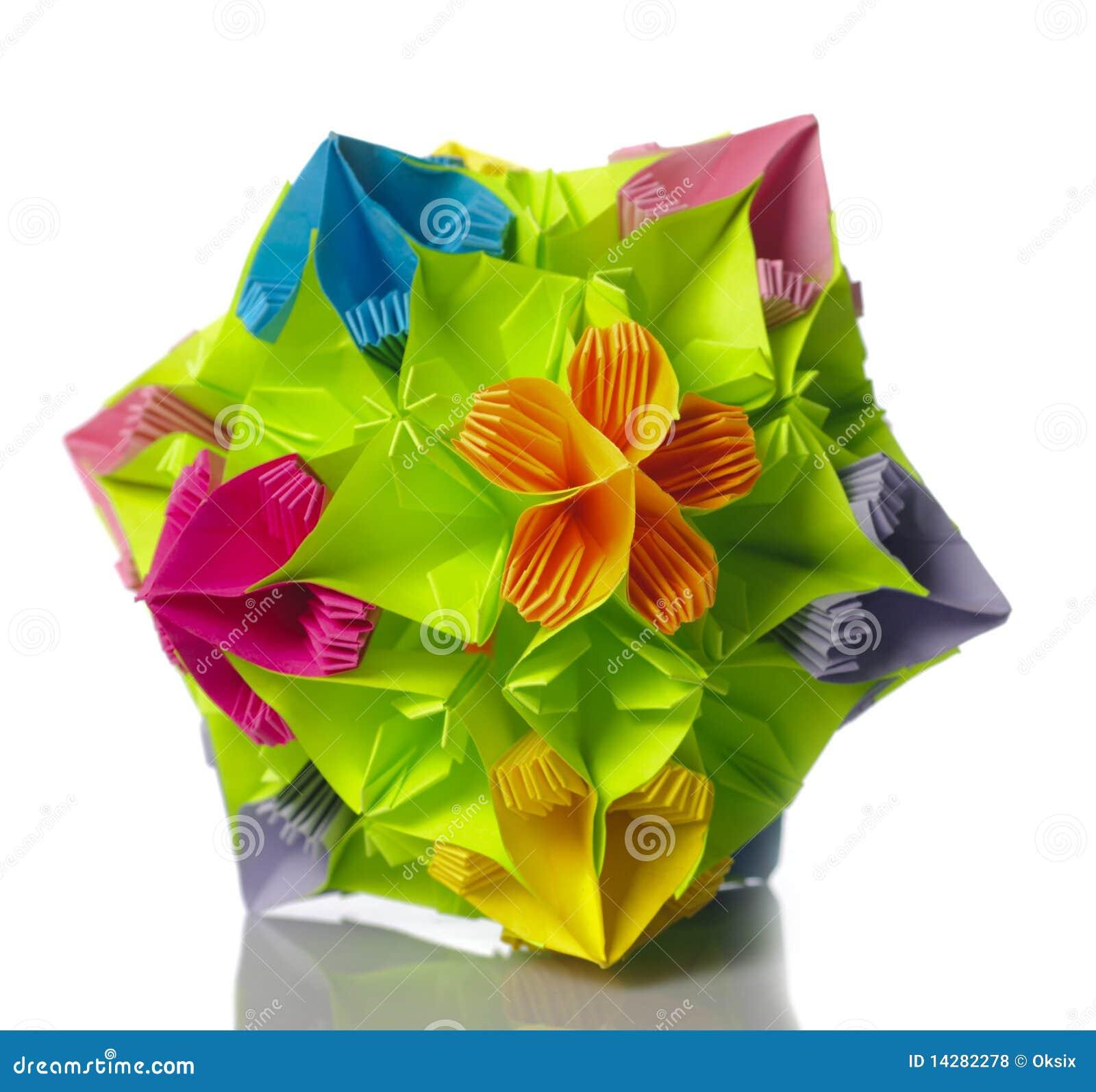 Origami Kusudama Flower Stock Photo Image Of