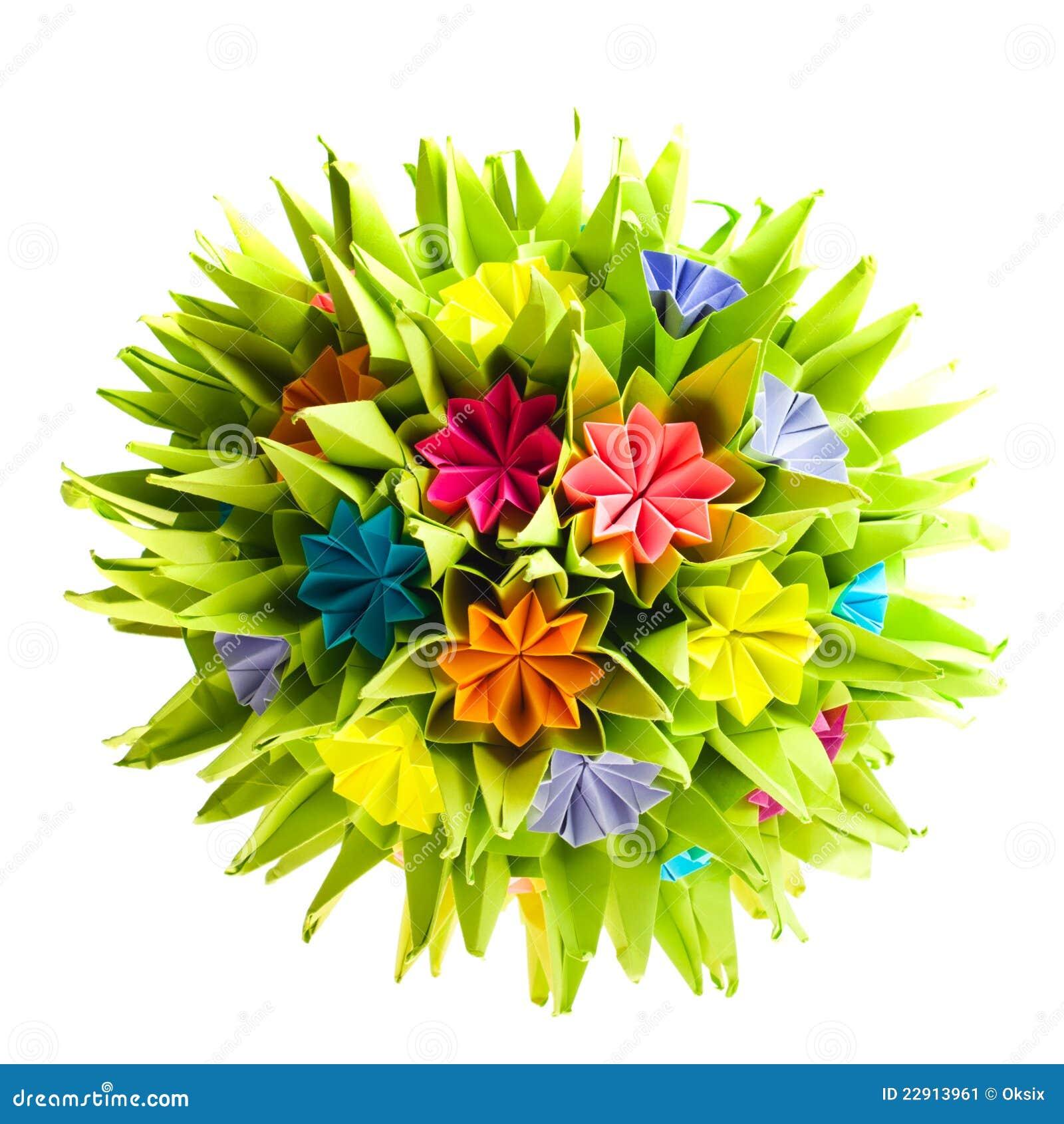 Origami kusudama flower stock image image of object 22913961 download origami kusudama flower stock image image of object 22913961 mightylinksfo
