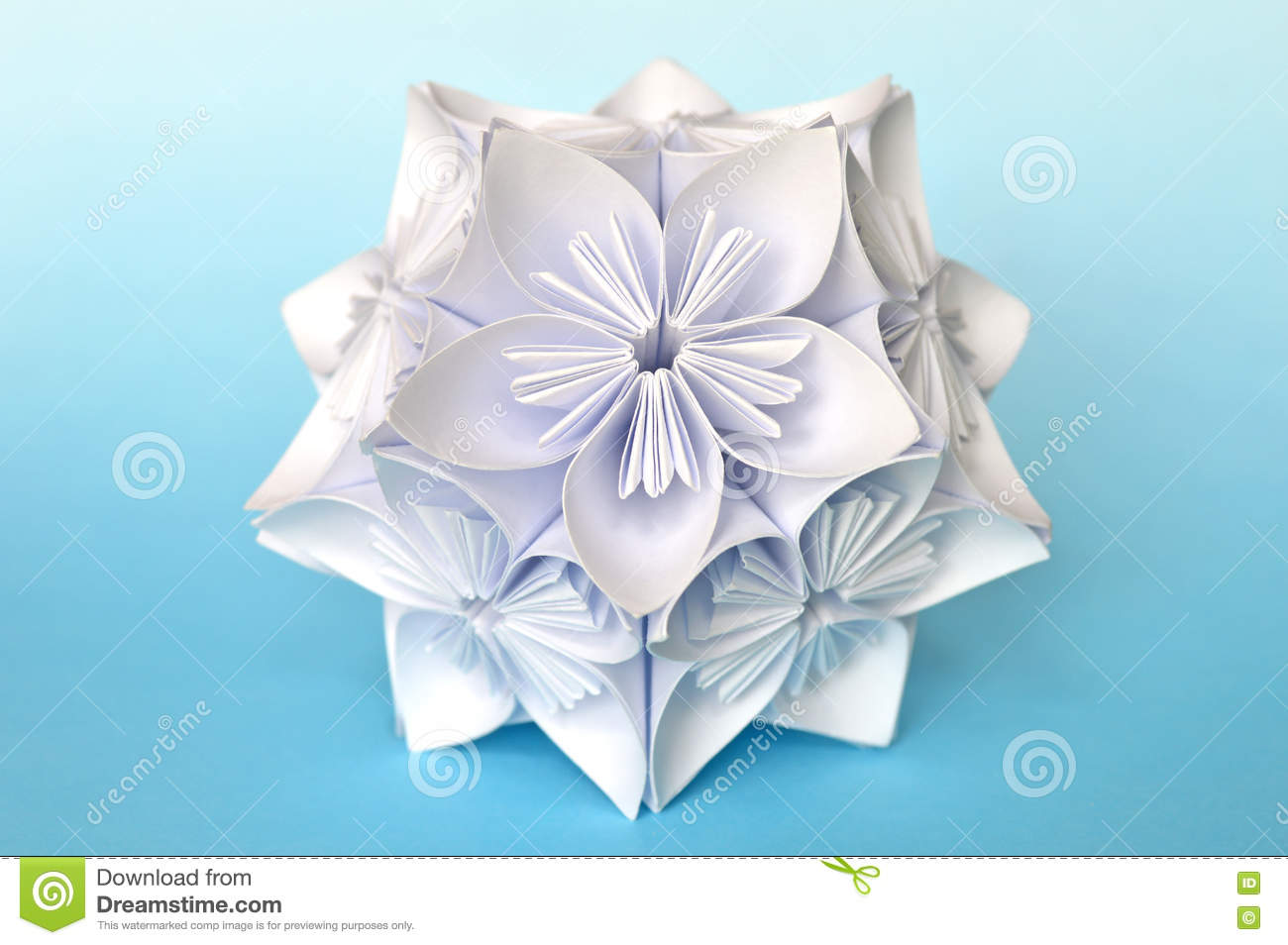 Origami Kusudama Flower Ball Stock Photo Image Of Asian