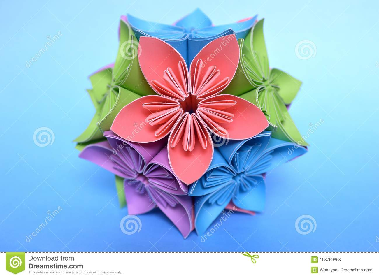 Origami kusudama flower ball stock image image of paper folding download origami kusudama flower ball stock image image of paper folding 103769853 mightylinksfo