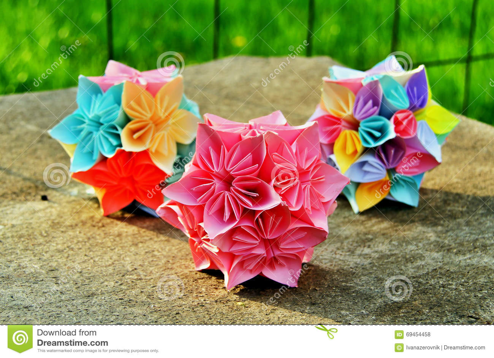 Origami Kusudama Flower Balls Stock Photo Image Of Culture Balls