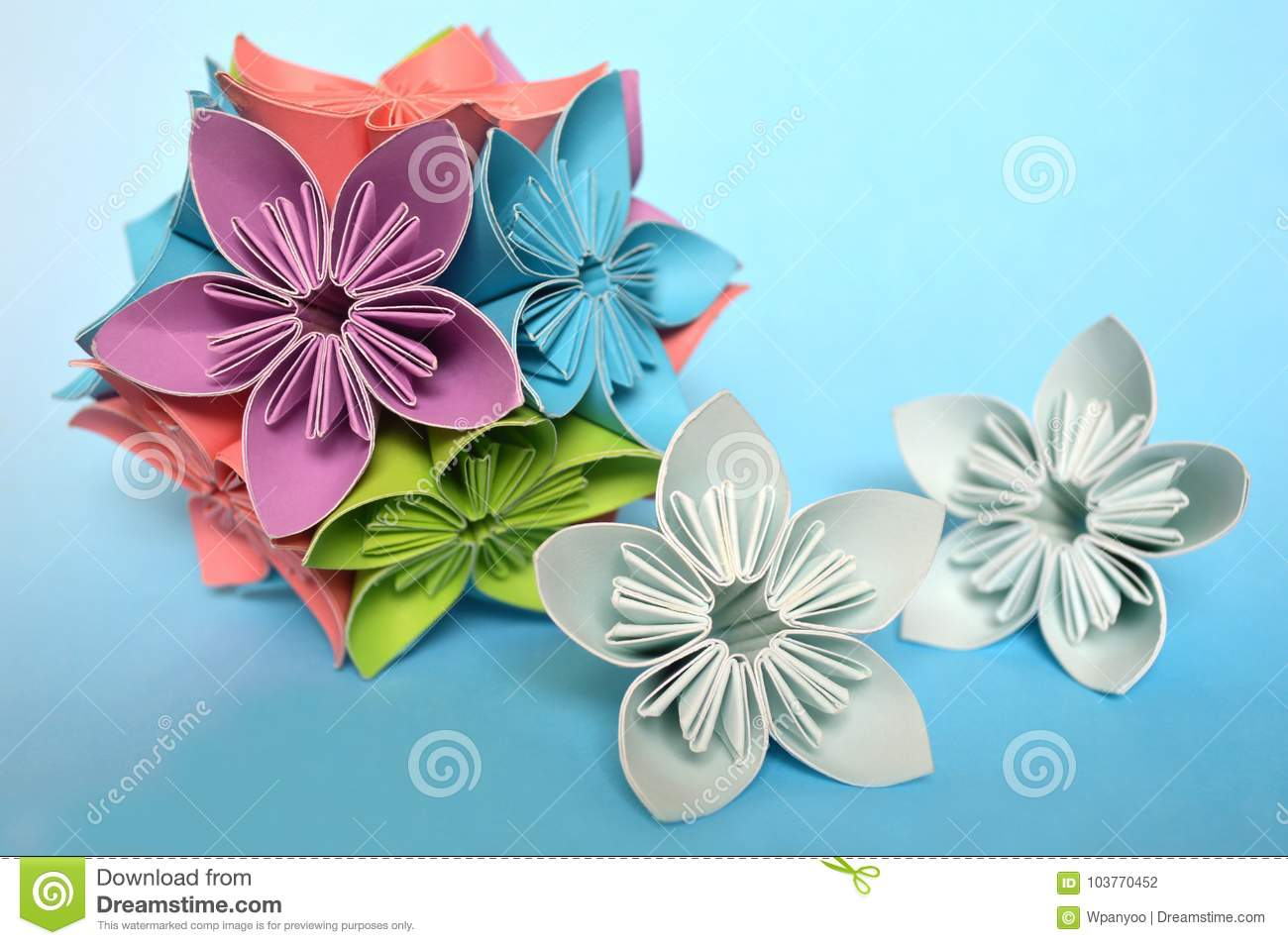 Origami kusudama flower stock photo image of pink tradition download comp mightylinksfo