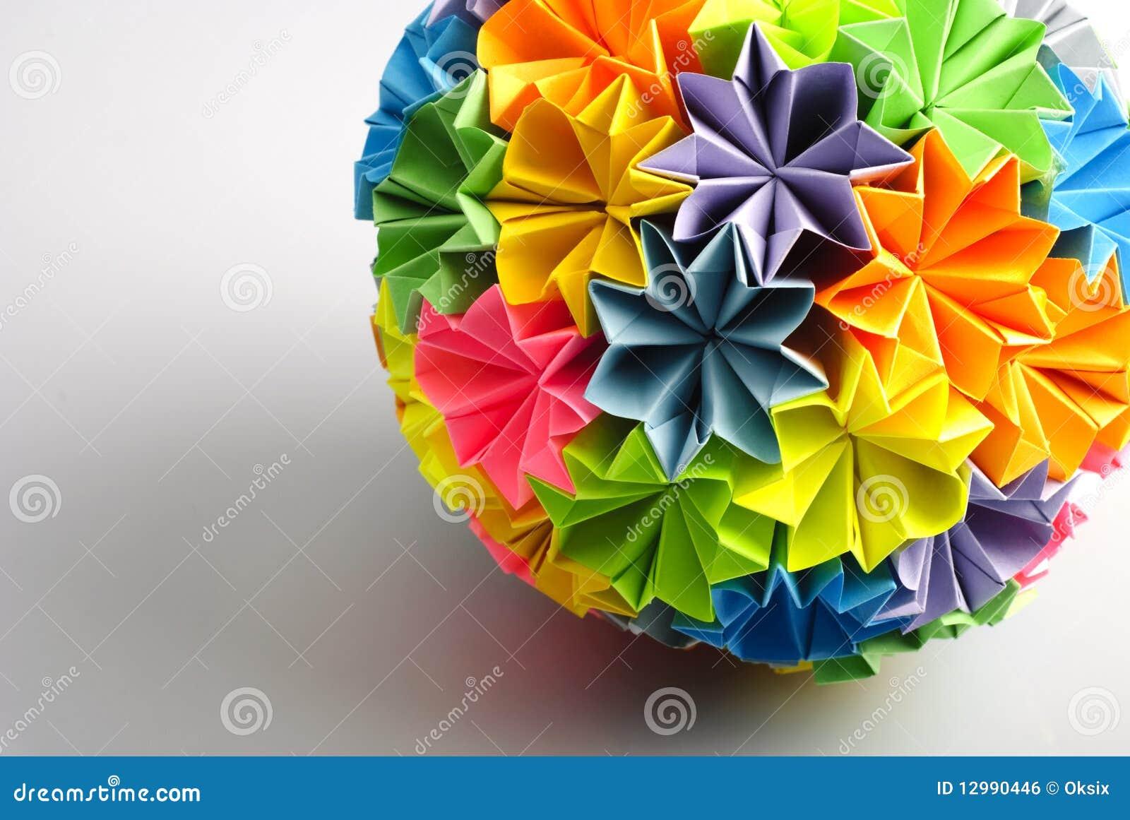Origami kusudama rainbow stock photo image of oriental 12990446 origami kusudama rainbow jeuxipadfo Gallery