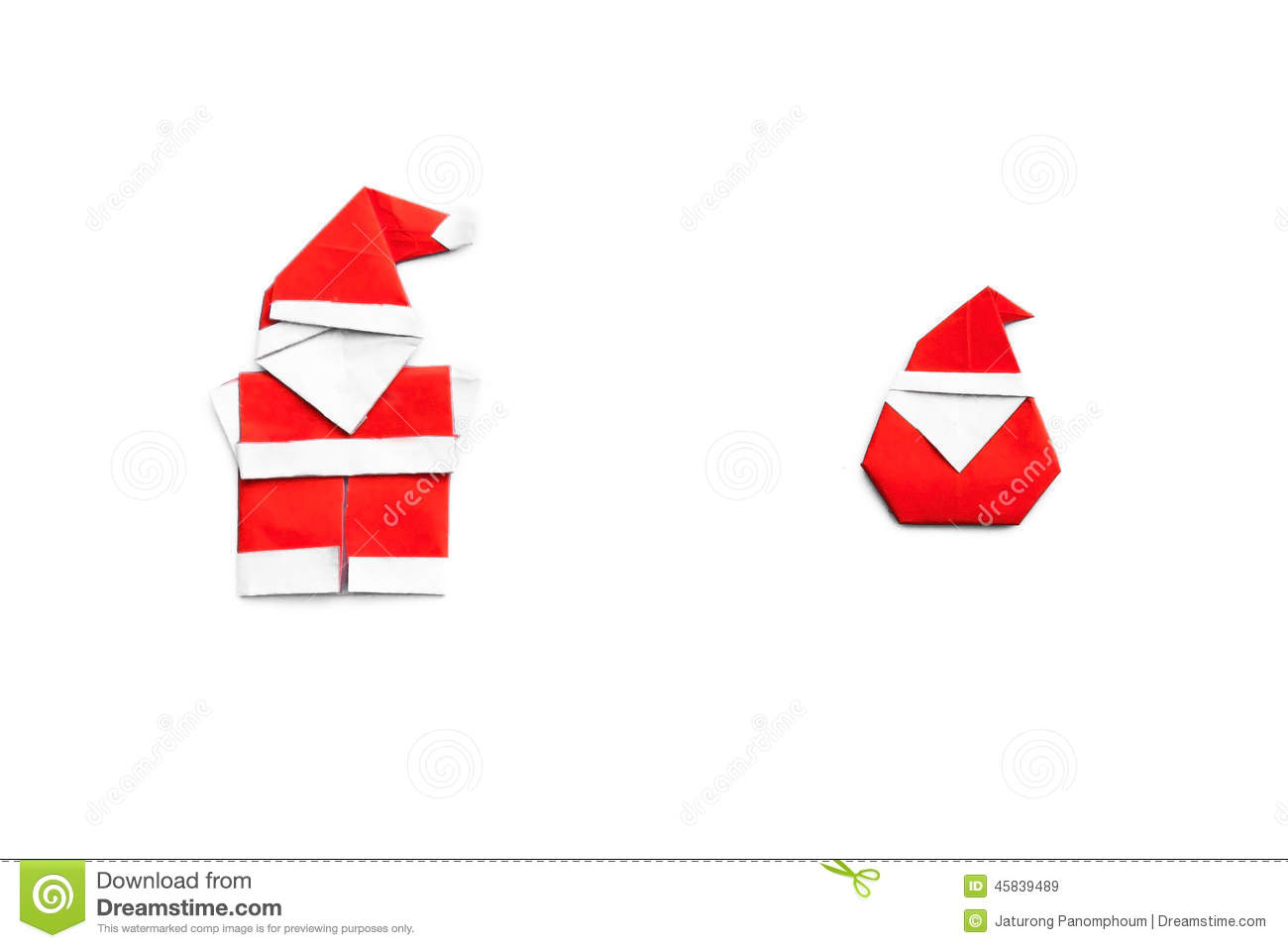 Origami le p re no l illustration stock image 45839489 - Origami pere noel ...