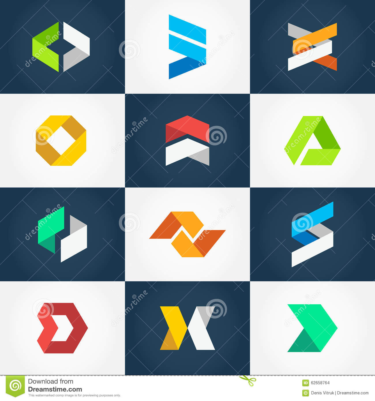 Origami Logo Collection Stock Vector - Image: 62658764 - photo#1