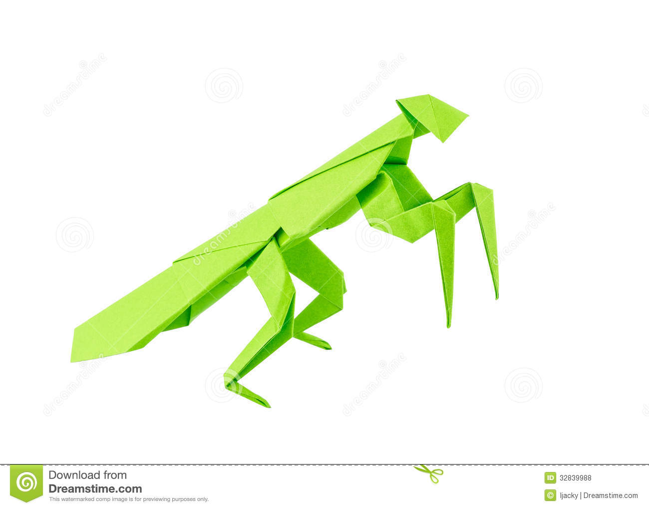 Origami Mantis Isolated On White Background Royalty Free Stock Photos