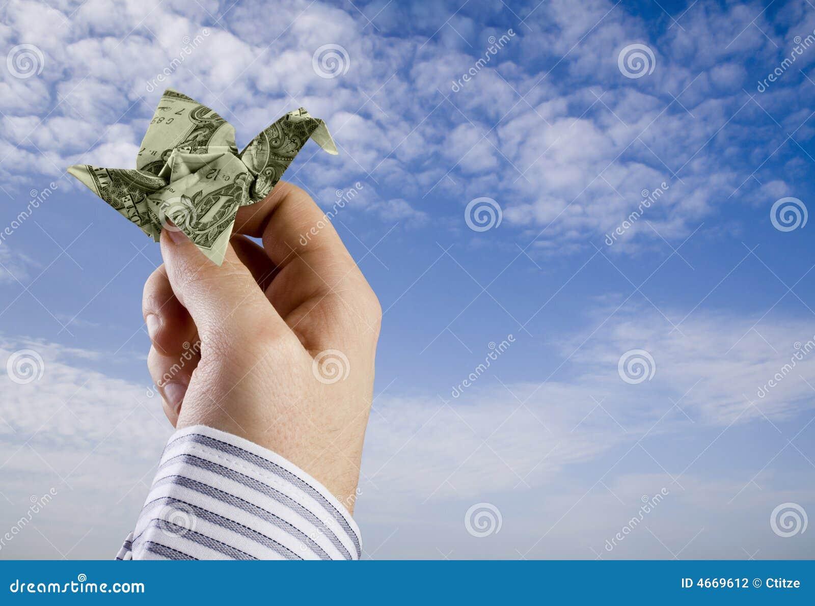 origami money bird stock photography image 4669612