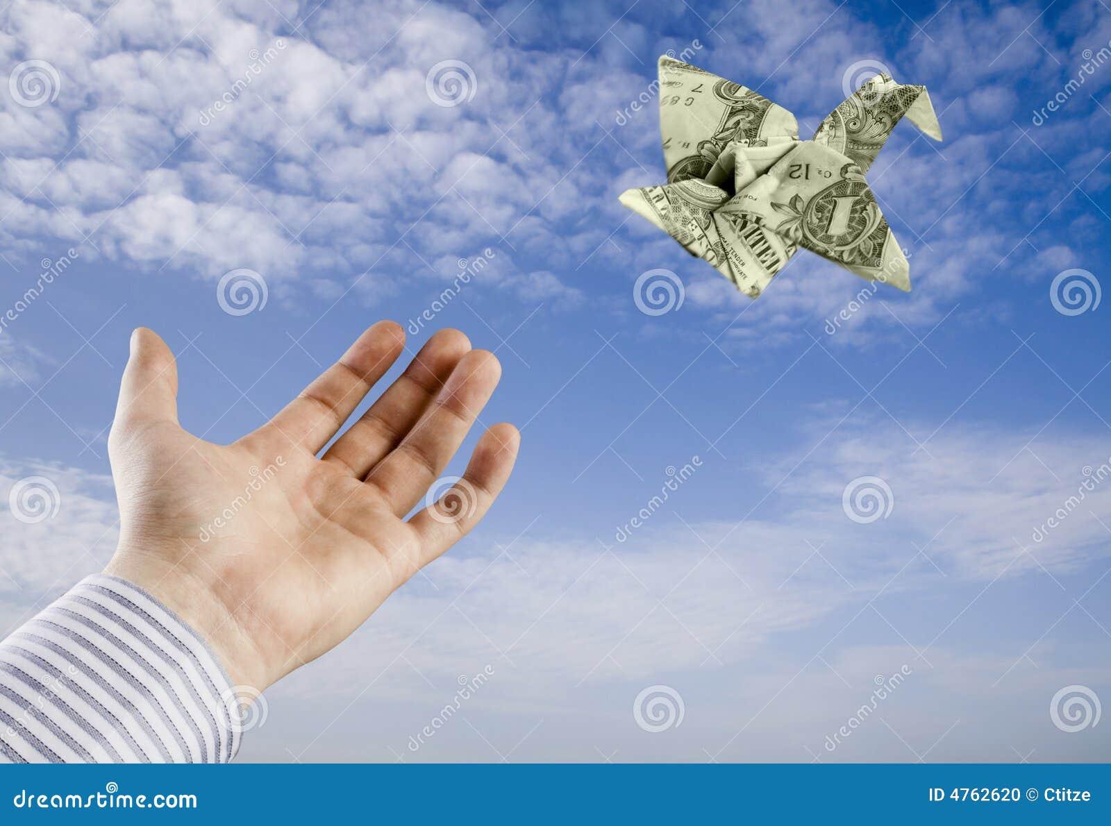 origami money bird stock photo image 4762620