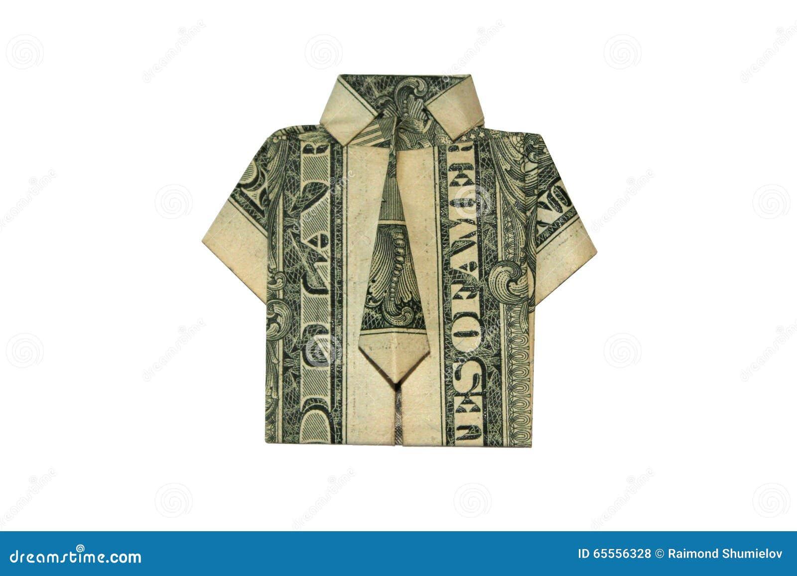 Money Origami Shirt - YouTube | 957x1300