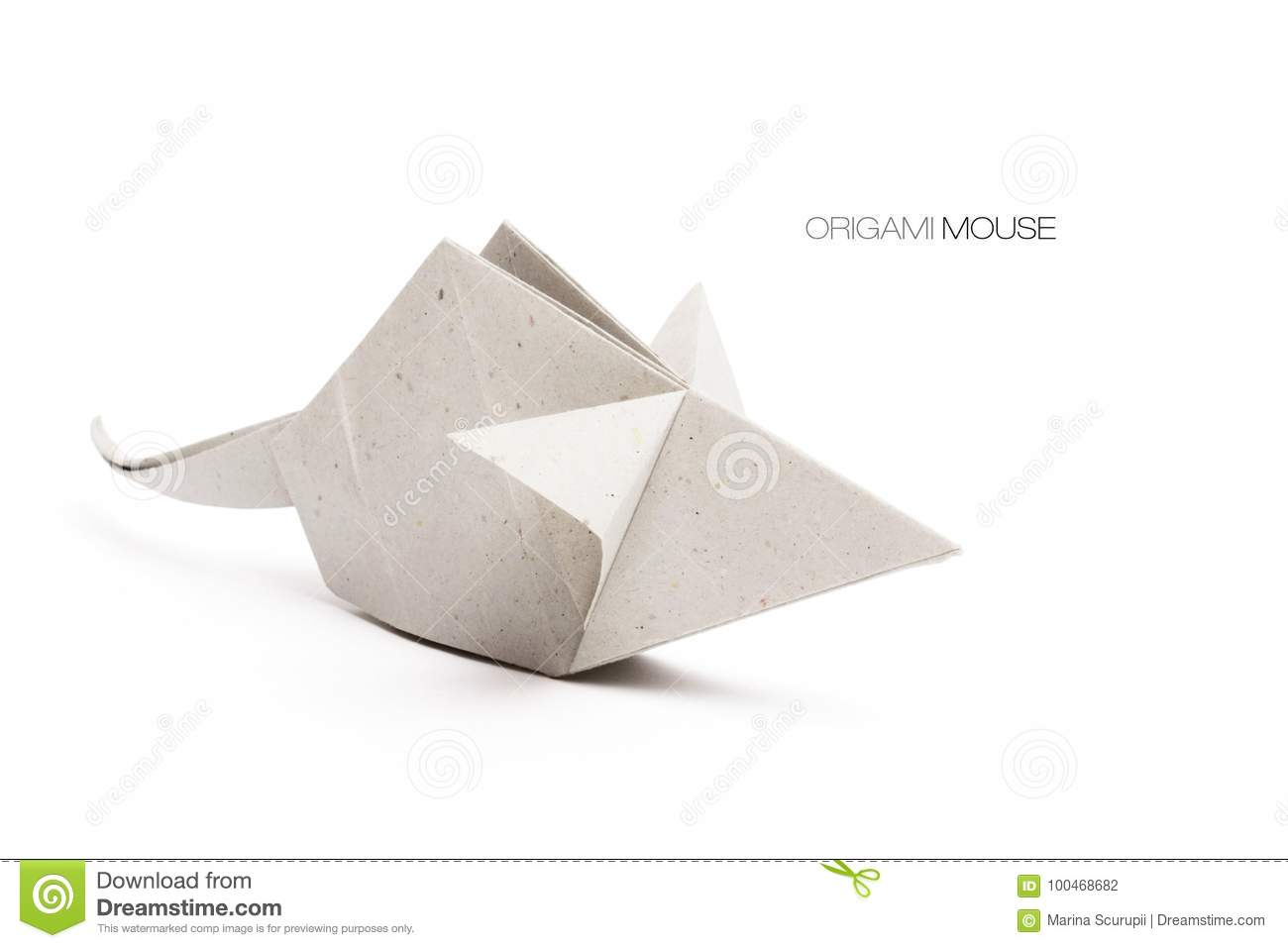 Origami Mouse Gray Stock Photo Image Of Rodent Artistic 100468682