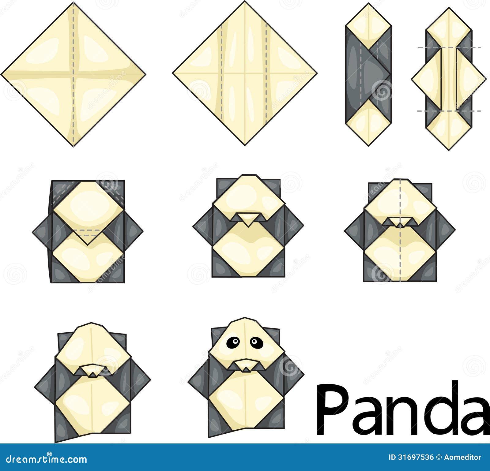 Origami Panda Royalty Free Stock Image Image 31697536