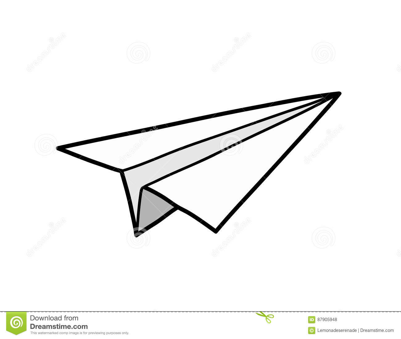 Origami Paper Airplane stock vector. Illustration of ...