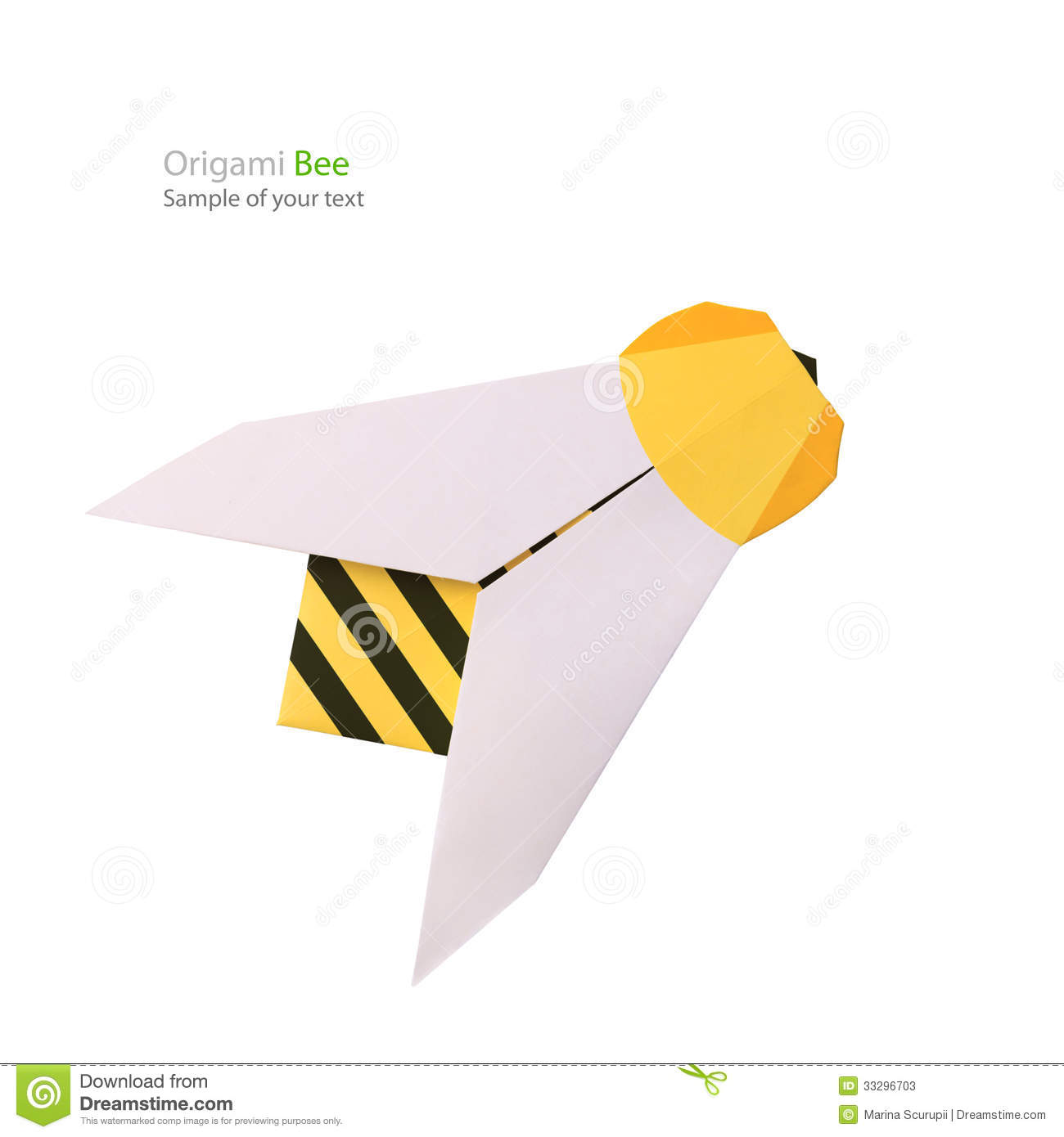 Origami Paper Bee Stock Image Of Close