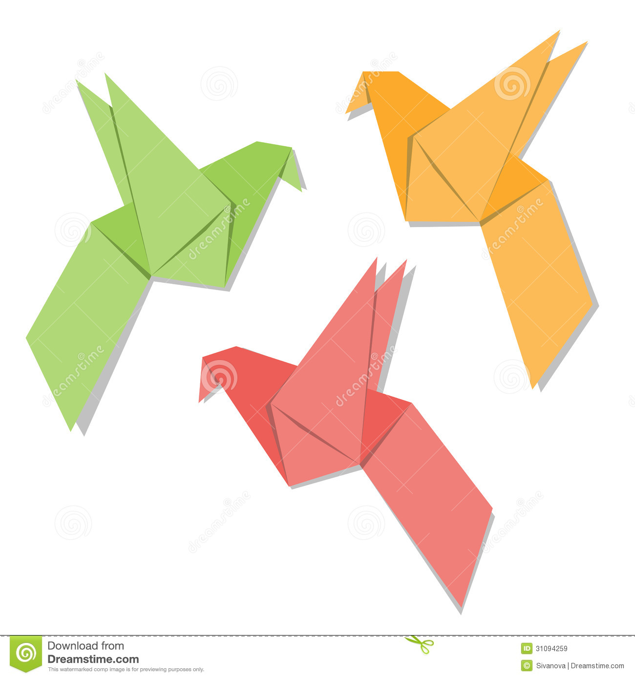 Origami Paper Bird Royalty Free Stock Images Image 31094259