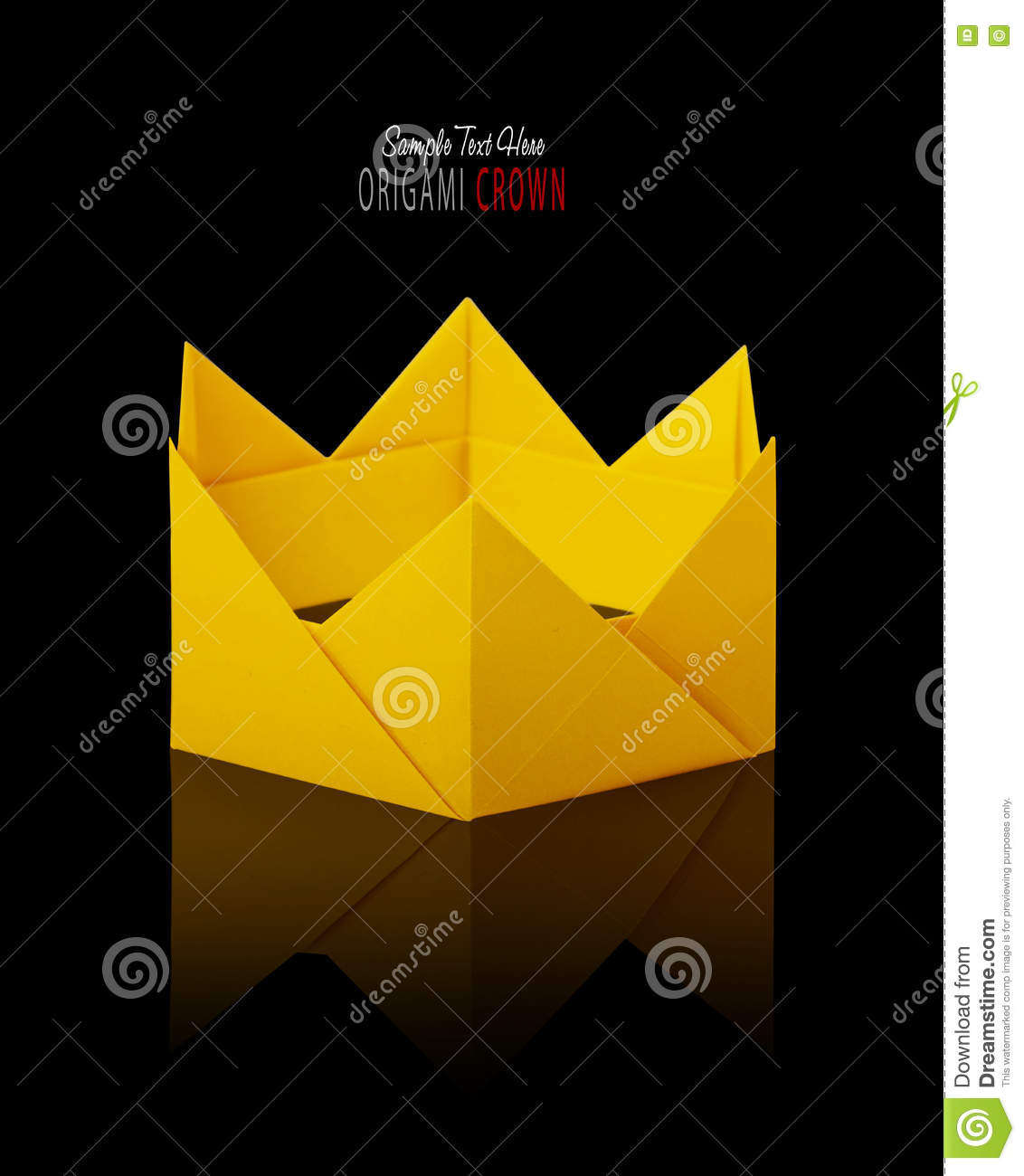 Origami Paper Crown Stock Photo Image Of Medieval Prince 79169110