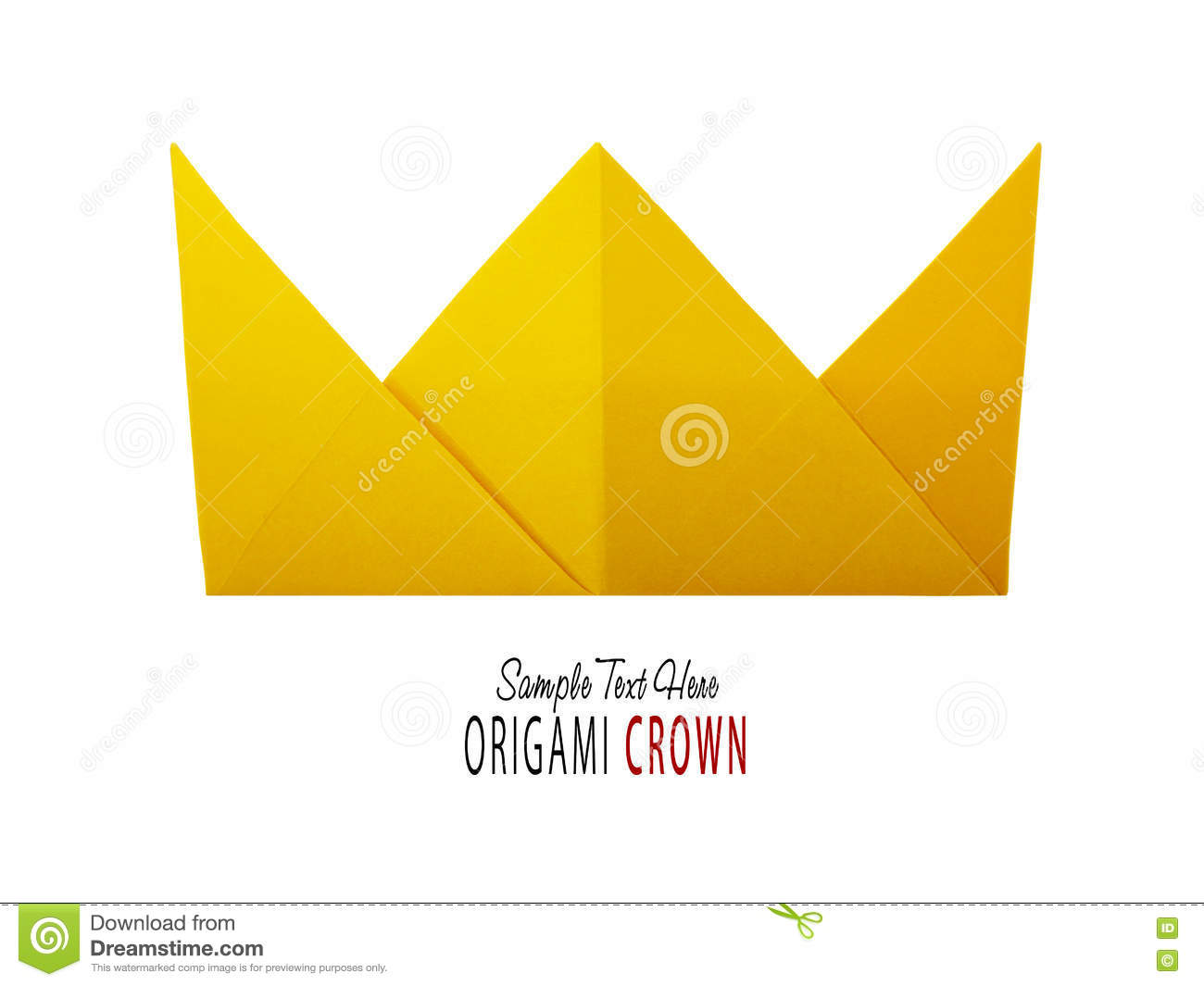 Origami Paper Crown Stock Image Image Of Decoration 80635627